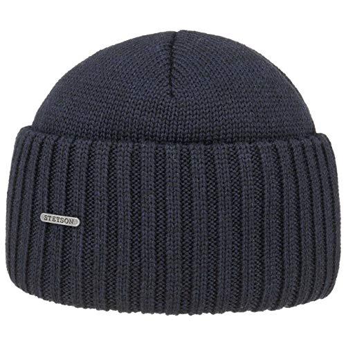 Stetson Herren Merino Wolle Mütze Hut EIN Größe Dunkelblau, Marine (2), Einheitsgröße