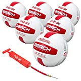 GoSports Six Pack Pro Series Beach Volleyball 6 Pack - Regulation Size & Weight with Bonus Air Pump & Mesh Bag