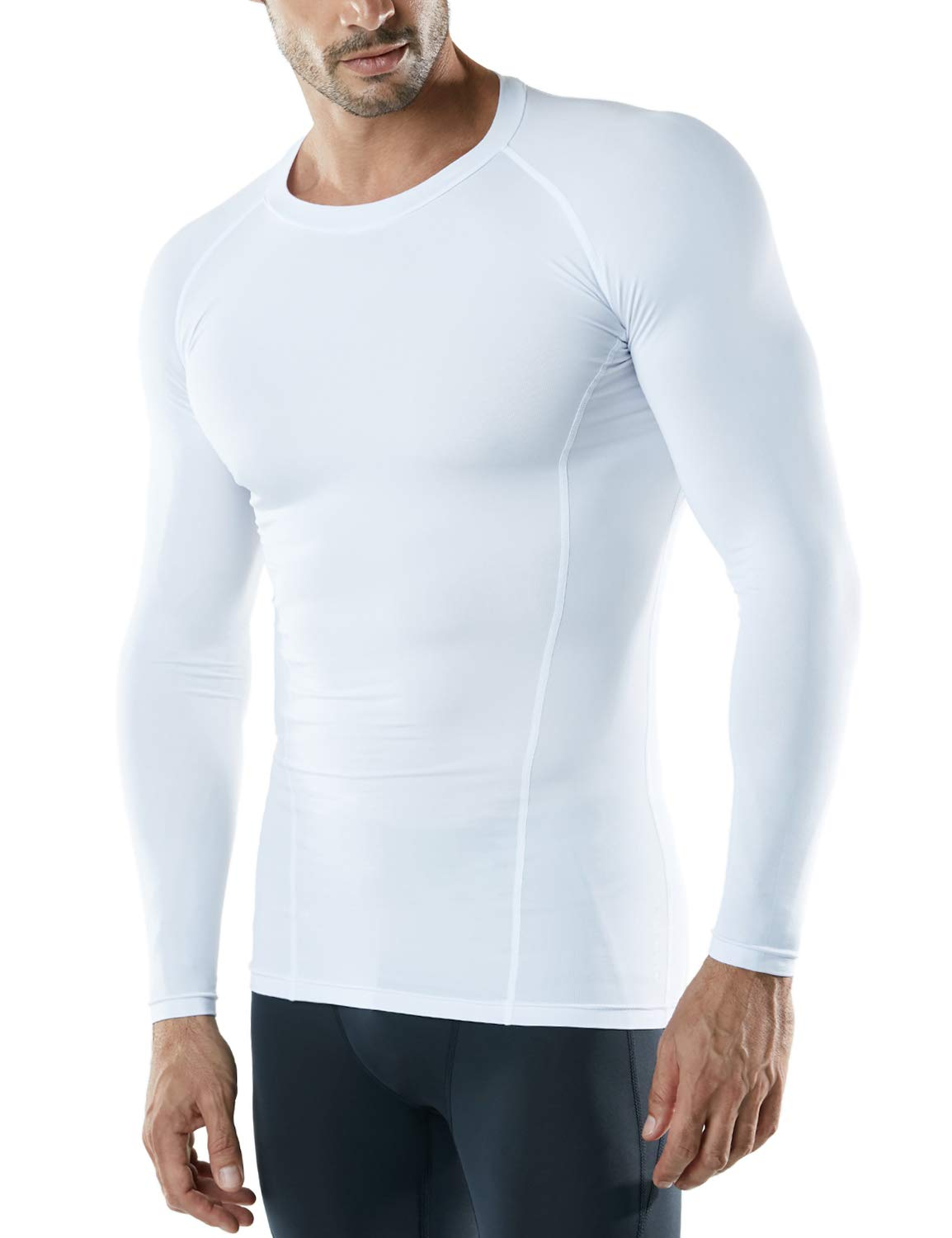 Athletic Workout Shirt Active Sports Base Layer T-Shirt ATHLIO 3 Pack Mens Cool Dry Fit Long Sleeve Compression Shirts