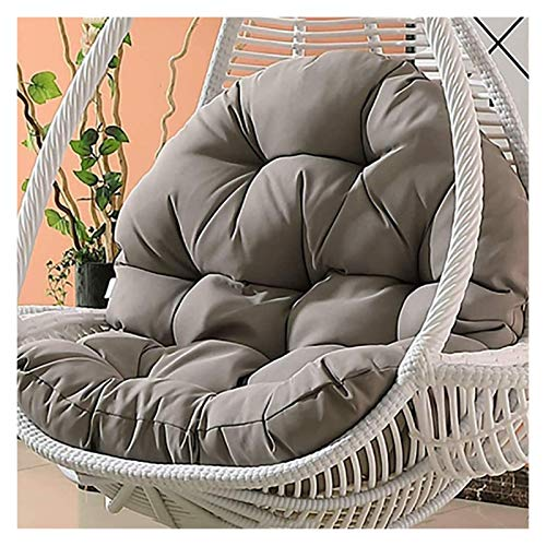 DYYD Egg Chair Cushion Waterproof Swing Chair Cushion for Outside,Thicken Hanging Egg Hammock Chair Cushion, Large Hanging Basket Seat Cushion Without Stand (Color : Light Grey)