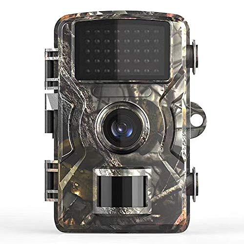MZBZYU Camaras de Caza Vision Nocturna FHD 1080P Trail Camera con Pantalla LCD en Color de 2' Incorporada Sensor de Calor Infrarrojo de 10m para Observar los Hábitos de los Animale