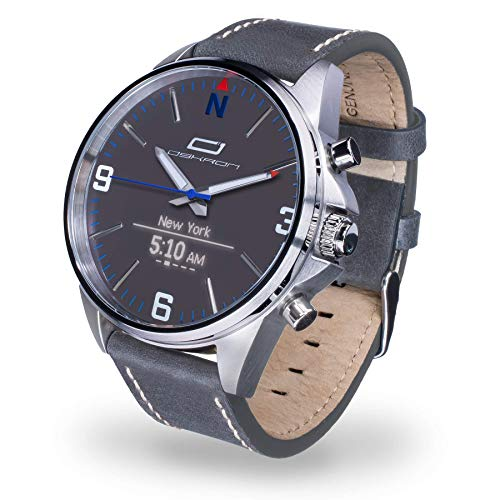 Oskron Gear Herrenschmuckuhr mit Smartwatch Funktionen 017-hellgrau