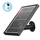 Solar Panel Compatible with YESKAM A3 Wireless Rechargeable Battery Security Camera, IP66 Waterproof Solar Panel with 4m/13ft USB Cable, Non-Stop Power Supply for Wire Free Home WiFi Camera