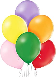 """ocballoons- Pack of 100 Latex Balloons 12""""/30 cm, Assorted Colours, PALL12ASS"""