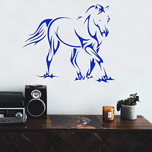 YuanMinglu Buntes Zebra-wasserdichtes Vinylapplikations-Wand-Kunst-Inneneinrichtungs-Aufkleber-Wandgemälde 42x49CM