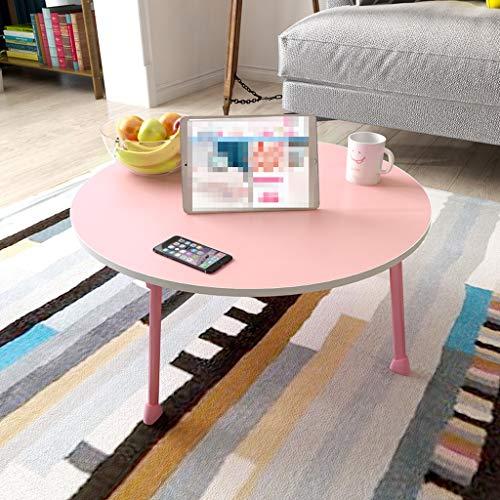 Ailjzz ailj Betttisch, Kleiner Schreibtisch, Kleiner Notebooktisch, Fauler Tisch, Schülertisch, Faltbarer Computertisch (Farbe : Pink)