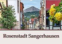 Rosenstadt Sangerhausen (Wandkalender 2022 DIN A2 quer): Sangerhausen ist die Kreistadt in Mansfeld Suedharz und liegt im Suedwesten von Sachsen Anhalt. (Monatskalender, 14 Seiten )
