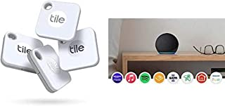 $110 » Tile Mate 4-Pack -Bluetooth Tracker,Keys Finder and Item Locator for Keys,Bags and More;Water Resistant with 1 Year Replac...