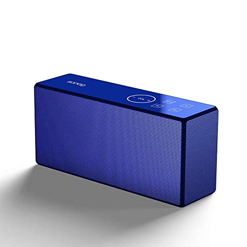 FANG PC Notebook Speaker, Bluetooth Speaker Overgewicht Subwoofer Alarm Klok Thuis Outdoor Mobiele Telefoon Audio-blauw, Draagbare Bluetooth Speaker