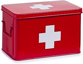 Zeller skrzynka pierwszej pomocy 32 x 19,5 x 20 cm w kolorze czerwonym, metalowym, 32 x 19,5 x 20 cm