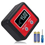 Neoteck Digital Angle Finder, Backlight Angle Gauge with V-Groove Magnetic for Carpentry Building Masonry Automobile DIY- Red