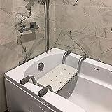 SUPERFIVE Asiento para la bañera no Antideslizante, Asiento para bañera, Silla de Ducha para bañera, Silla de baño Ajustable, para Personas Mayores, discapacitadas