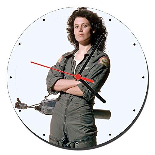 MasTazas Alien Sigourney Weaver Ellen Ripley Reloj de Pared Wall Clock 20cm