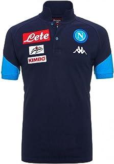 2017-2018 Napoli Cotton Polo Football Soccer T-Shirt Camiseta (Navy)