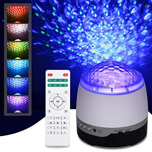 Lámpara de proyector Star, Tomshine Kids Night Light con 21 modos, LED Lámpara de música romántica Starry Sky, con control remoto, temporizador, altavoz, Bluetooth, regalo para adultos, niños