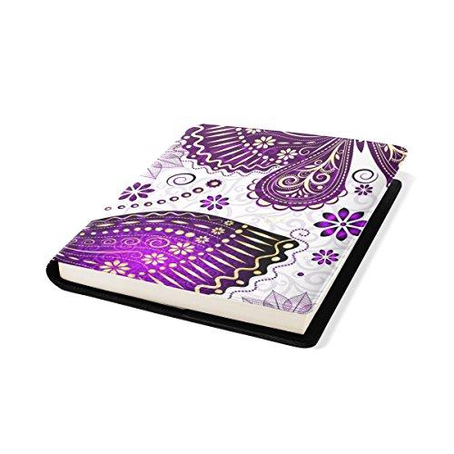 COOSUN Violet Violet Papillon Book Cover Sox Stretchable Livre, La Plupart des Fits Relié jusqu'à 9 manuels x 11. adhésif Libre, école Cuir PU Livre Protector 9 x 11 Pouces Multicolore