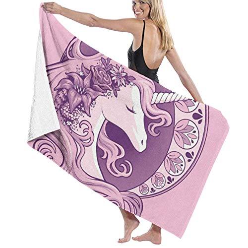 Olie Cam Beauty Kawaii Cartoon Unicornio Toallas de Playa Poliéster Secado rápido Sábanas de baño Suaves Novedad de Verano Piscina Toallas de baño Grandes para Estera de Yoga Manta de Playa