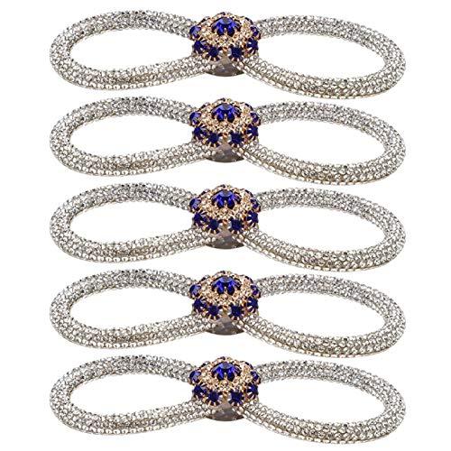 SALUTUYA Broche de Diamantes de imitación Azul Real Exquisito 10,5 cm para Accesorios de Vestir