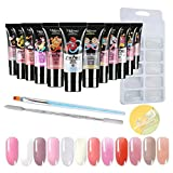 Poly Nail Extension Gel Kit, Polygel Nail Starter Kit, 13 Colors Builder Gel Extension Nail Gel Kit All-in-One Nail Enhancement Starter Gel Builder Nail Technician Set (I)
