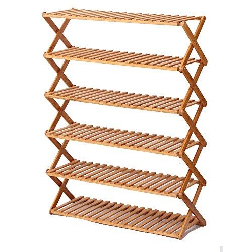 Shoe rack LVZAIXI Support à Chaussures Pliable en Bambou de Chaussure de casier de Chaussure de Bambou Support à Chaussures Simple Pliable de Multicouche (Taille : 70 * 28 * 96cm)