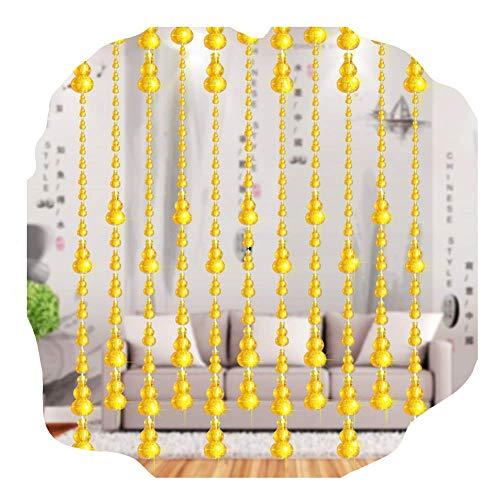 DX Türvorhang,Perlenvorhang Türvorhänge Raumteiler Kürbisform Acryl Perlenschnur Vorhänge Türen Panel Dekoration Hintergründe (Farbe: B, Größe: 100x200cm)