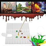 wosume Paletas de bandejas de Pintura Plástico, Plegable 24 Rejillas Artista Cuadrado Paleta de plástico Bandeja de Pintura Caja de Acuarela Herramienta de Pintura al óleo