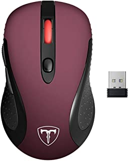 VicTsing Computer Wireless Mouse, 2.4G Portable USB Mouse Ergonomic Mouse- Fit Your Hand Nicely, 5 Adjustable DPI Levels, ...
