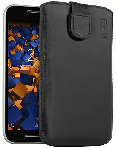 mumbi Echt Ledertasche kompatibel mit Motorola Moto G3 Hülle Leder Tasche Hülle Wallet, schwarz