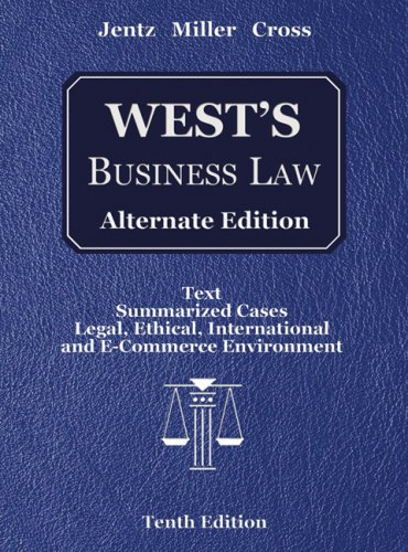 West's Business Law, Alternate Edition (with Online Legal Research Guide)