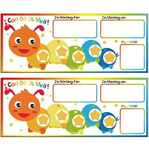 Caterpillar Token Board Reward and Responsibility Chart Token Board Reward Magnetic Chart for Classroom Educational Incentive Tool (2)
