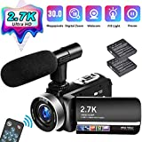 Videocamera Videocamere 2.7K Full HD 30 MP Fotocamera Digitale per YouTube 18X Zoom Digita...