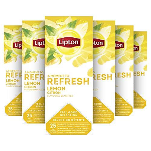Lipton Feel Good Selection Zwarte Thee Citroen 6 x 25 zakjes Voordeelverpakking