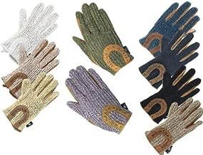 mountain horse crochet riding gloves