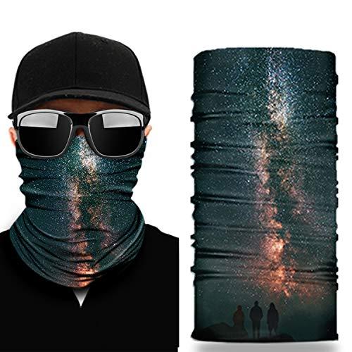NoahNoel   Halstuch Multifunktionstuch für Damen und Herren Schlauchtuch Nahtlos Bandana Schal Gesichtsmaske für laufen Radfahren Motorradfahren (Schwarz)