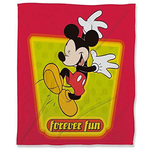 ARYAGO - Manta de felpa (130 x 180 cm), diseño de Mickey Mouse