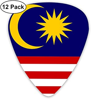 Yongchuang Feng Flag of Malaysia Guitar Picks Bass Ukulele Mandolin Plectrum Musical Instruments 12-Pack Thickness 0.46/0.73/0.96 Mm