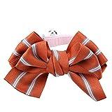 Qiterr Nette Mode-verstellbare Fliege Kragen Krawatte Bowknot Kleidung für Hund Katze (S-Orange)