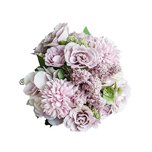 Desconocido Super1798 Ramo de Rosas Artificiales Hechas a Mano para decoración del hogar