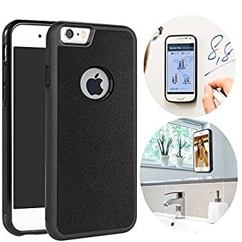 CloudValley Anti Gravity iPhone 6 Plus Case iPhone 6S Plus Phone Case Magical Nano Stick to Glass Whiteboards Tile and Smooth Flat Surfaces for Apple iPhone 6 Plus 2014 / iPhone 6S Plus 2015 -Black