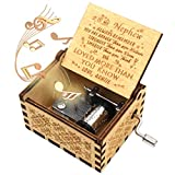 ukebobo Wooden Music Box- You are My Sunshine Music Box, from Auntie to Nephew, Gifts for Kids - 1 Set