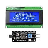 SunFounder 2004 20x4 LCD Module IIC I2C Interface Adapter Blue Backlight for Arduino R3 MEGA2560 Raspberry (MEHRWEG)