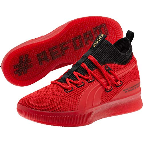 PUMA Men's Clyde Court Reform Meek Mill Sneaker, High Risk Red, 10.5 M US
