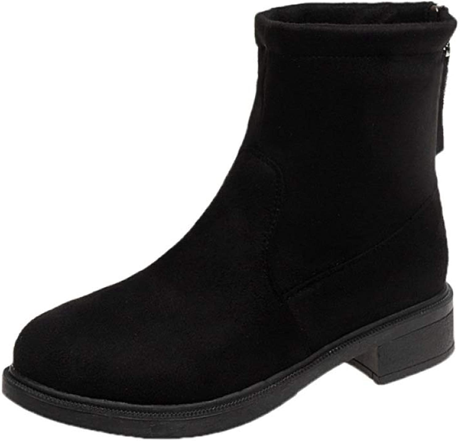 LXIANGP Women's Boots,Snow Boots Boots Elastic Comfortable Thick Spring and Autumn Winter Boots Low Heel Wild Fashion shoes Ladies (35EU-40EU)