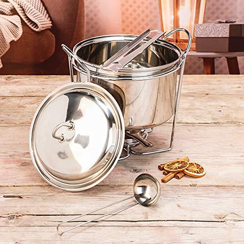 Feuerzangen-Bowlen-Set Edelstahl 5tlg Bowle Feuenzangen Silvester Feier 3,5 Liter