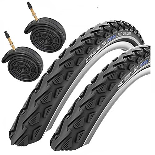 Schwalbe Land Cruiser 700 x 40c Hybrid Bike Tyres with Presta Tubes (Pair)