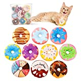 Toozey Katzenspielzeug Donuts mit Katzenminze, Katzenminze Donuts 10pcs FüR Katze Zum BeißEn,...