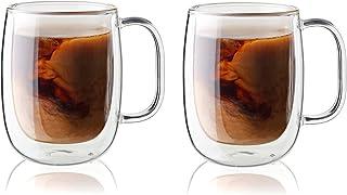 Zwilling ツヴィリング 「 ダブルウォール グラス コーヒーマグ 350ml 2pcs セット 」 断熱 保冷 保温 取っ手 二重構造 カップ お茶 電子レンジ対応 【日本正規販売品】 39500-112