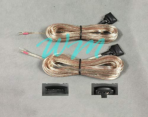 WM 2x 20ft speaker Adapter Wires/Cables made for Connecting Bose 321/Cinemate Speakers to Third Party Receiver which has bare speaker wire interface;18AWG; Warning:Not work with original 321/Cinemate!
