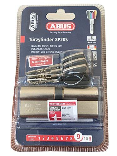 Preisvergleich Produktbild ABUS Profilzylinder XP20SN 40 / 40 inklusive Sicherungskarte & 3 Schlüsseln,  SB [ Security Levl : 9 ]