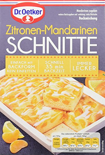 Dr. Oetker Zitronen-Mandarinen Schnitte, 8er Pack (8 x 357 g)